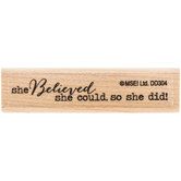 She Believed Rubber Stamp